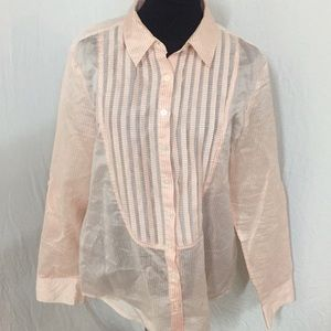 BANANA REPUBLIC XL SILK COTTON SHIRT